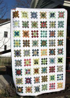 Batik Granny Squares Quilt @ GreensandJeans