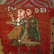 Judíos. Detalle del Tapis de la Creació. Catedral de Gerona. Siglo XI