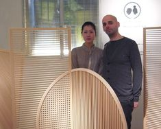 \'join\' consists of a series of three space-dividers made using tategu, a traditional craft of japanese wood joinery.
