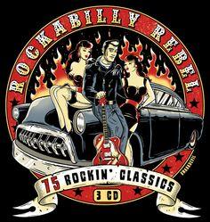Rockabilly Rebel, CD cover design for Union Square Music, London Rockabilly Artwork, Rockabilly Moda, Rockabilly Rebel, Rockabilly Fashion, Samba, Dibujos Pin Up, Cd Cover Design, Teddy Boys, Gothabilly