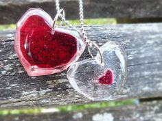 You Are The Missing Piece... Legend of Zelda Inspired Heart Piece and Container Friendship Necklace Set