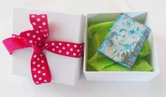 christmas wrapping for a lovely handmade brooch #brooches $25