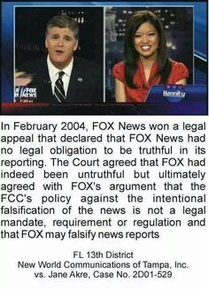Fox is #FakeNews!! They're destroying Minds. Americans deserve better.