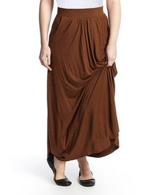Another great find on #zulily! Coffee Brown Claire Maxi Skirt by White Mark #zulilyfinds