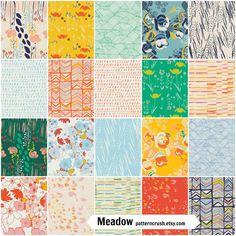 PRESALE Meadow by Leah Duncan FQ fabric bundle by PatternCrush, $47.50