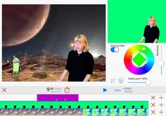 If you have i​Pads in your classroom, have students create short videos ​describing their summer vacations. Green Screen by Do Ink allows students to place themselves right in the vacation spot they actually visited​. Then students can share their vacation so their peers will have a clear image of where they traveled.