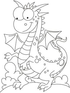 Comparatively a kind looking dragon coloring pages | Download Free Comparatively a kind looking dragon coloring pages for kids | Best Coloring Pages
