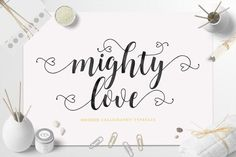 nice Mighty Love Script (30% Off)  CreativeWork247 - Fonts, Graphics, Theme...