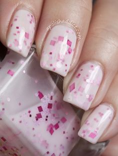Cream and Pink Franken THE MOST POPULAR NAILS AND POLISH #nails #polish #Manicure #stylish by fashionlady  #nails
