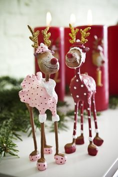 Reindeer for Christmas decor Noel Christmas, All Things Christmas, Christmas Ornaments, Christmas Tables, Nordic Christmas, Reindeer Christmas, Modern Christmas, Paper Mache Clay, Paper Mache Crafts