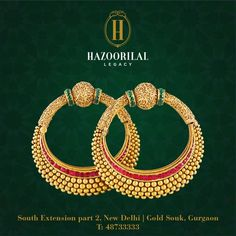 #TheGoldenEssence: Purely handcrafted #HazoorilalLegacy Gold bangles – a beacon of Indian culture and auspicious beginnings. #Hazoorilal #Jewelry