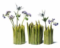 Vases that look like grass, what a cool idea...on my wish list...