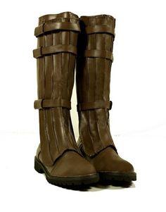#Steampunk Renaissance Riding Star Wars Jedi Cosplay Pirate Men's Boots Size Medium 10-11 - Buy New: $79.99