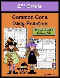 Common Core Math and Language Arts Daily Practice for Second Grade (October) 2nd Grade Ela, Grade 2, Second Grade, Math Projects, School Projects, School Ideas, Halloween Math, Halloween Ideas, Primary Classroom