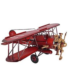 @Overstock - Wonderfully handcrafted and hand painted metal antique toy replica Bi-plane from our Antique Toy Reproduction and Model Collection   Each collectible metal toy plane is created to look just like the original modelhttp://www.overstock.com/Home-Garden/Antique-Metal-Bi-Plane-Airplane-Model-Toy-Replica/2897831/product.html?CID=214117 $62.99