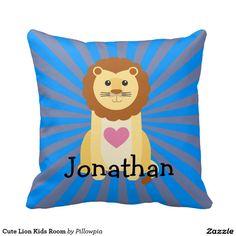 Cute Lion Kids Room Pillow
