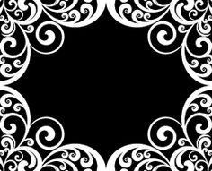 Monogram Border Designs   bc 1501 001i jpg tags border damask designer frame monogram name ...