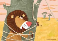 Lion and mouse on Behance