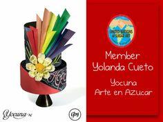Yolanda Cueto - Yocuna Arte en Azucar Spain Rainbow decorated colour cake -