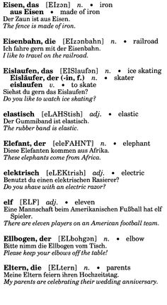 German For Beginners: 3 | Vocabtrainer | Pinterest | German, German  Language And Learn German