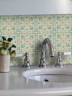 Clearance Foglio Wallpaper In Mint Removable Vinyl Wallpaper Peel Stick No