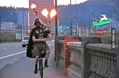 You might be cool but you'll never be Darth Vader wearing a kilt playing a flaming bagpipe riding a unicycle cool.