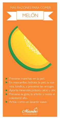 Beneficios del Melón www.mambo.com.co Frutas y verduras de Cartagena de Indias