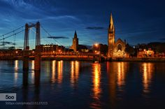 """Inverness at night"" by picturebook. Please Like http://fb.me/go4photos and Follow @go4fotos Thank You. :-)"