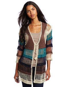 Love this sweater! Willow & Clay Women's Crochet Cardigan @Amazon