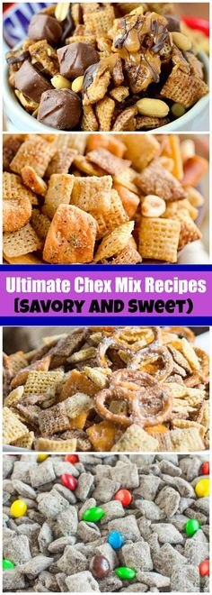The Ultimate Chex Mix Recipes - Savory AND Sweet! - - The Ultimate Chex Mix Recipes – Savory AND Sweet! treat and desserts 28 Snack Mix Recipes You Need To Try – Captain Decor Snack Mix Recipes, Yummy Snacks, Dessert Recipes, Trail Mix Recipes, Savory Snacks, Healthy Snack Mixes, Party Recipes, Healthy Sweets, Vegan Snacks