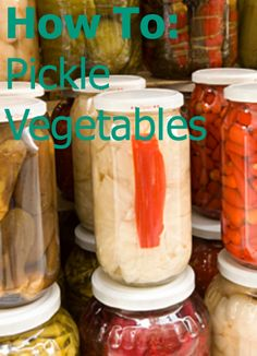 HOW TO: Pickle Vegetables #howto