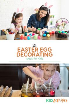 21 Easter Egg Decorating Ideas for Kids - Kid Activities Holiday Activities For Kids, Games For Toddlers, Kid Activities, Summer Activities, Easter Bunny Eggs, Preschool Age, Egg Decorating, Valentine Day Cards, School Fun