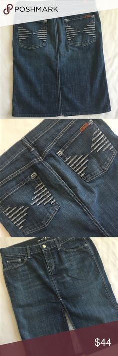 """7 for all mankind 31"""" Like new 23"""" long 7 For All Mankind Jeans"""