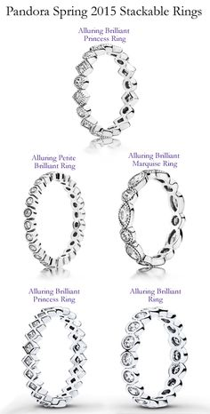 Pandora Stack-able Rings