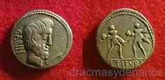 Aquesta altra moneda representa el rapte de les sabines  del any 88 a.C.
