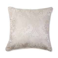 "Vcny Jasmine 20""x20"" Decorative Throw Pillow (20x20 - Ivory), Beige Off-White (Polyester, Jacquard)"
