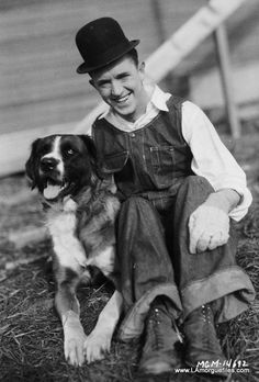 Stan Laurel and friend