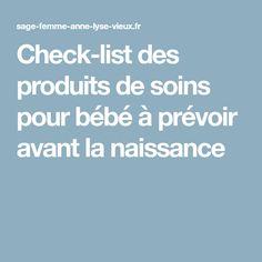 Check-list des produits de soins pour bébé à prévoir avant la naissance