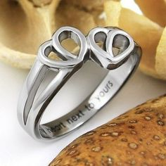 Promise Ring Double Hearts My Heart Next to Yours Best Purity Friends