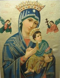 Image detail for -Virgin Mary & Jesus – Old Icon Lithograph