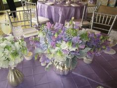 Lavender centerpieces for baby shower