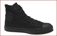 Solid black Converse Chuck Taylor hi-tops.