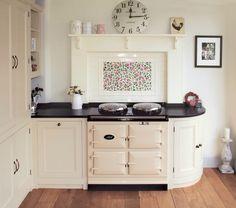 AGA oven in a white farmhouse kitchen