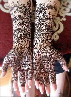Several amazing henna tattoos on this site. Arabic Mehndi Designs Full Hand 7