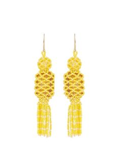 ETRO Bead and stone-embellished tassel earrings
