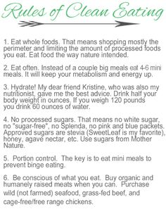 What Is Clean Eating?  A simple, easy to understand breakdown of the guidelines.