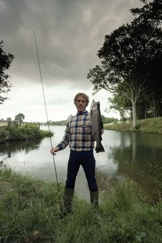 Roger Daltrey at his trout fishery in Sussex in 1982.