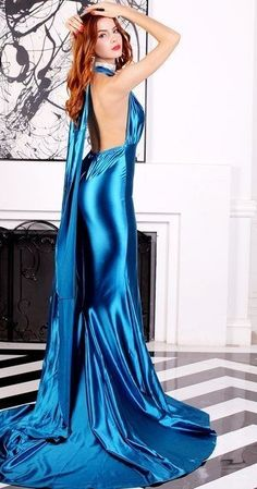 Cheap floor length, Buy Quality dress sexy directly from China satin dress Suppliers: Glossy Blue Satin Dress Sexy Fitted Maxi Floor Length Back Satin Gown, Satin Dresses, Sexy Dresses, Satin Nightie, Silk Satin, Silk Evening Gown, Evening Dresses, The Dress, Dress Skirt