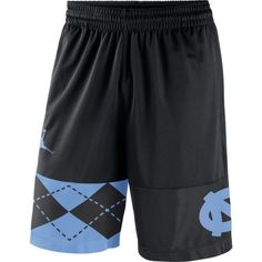 Jordan Men's North Carolina Tar Heels Replica Basketball Black Shorts, Team