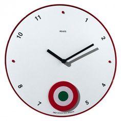 rexite 'appuntamento pendulum wall clock' designed by raul barbieri